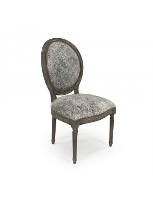 Medallion Cowhide Side Chair