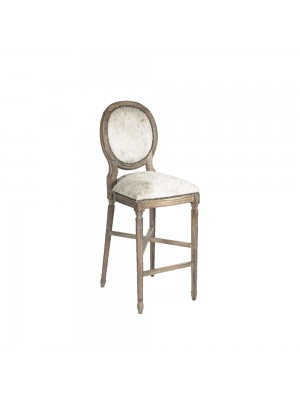 Medallion Cowhide Bar Stool