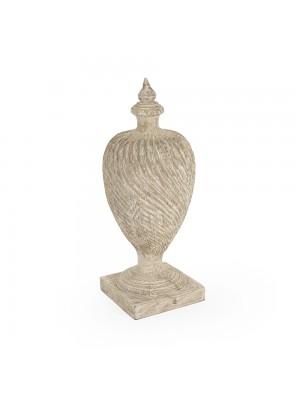 Julius Wooden Urn (Antique White)