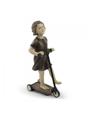 Girl on Scooter Statuette