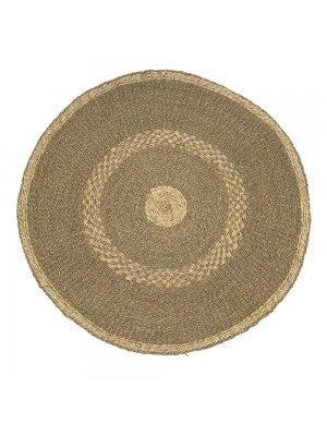 Round Striped Area Rug