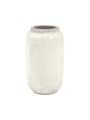 Distressed White Vase (4974XS A344)