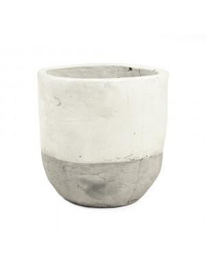 Distressed White Vase (7793XL A25A)