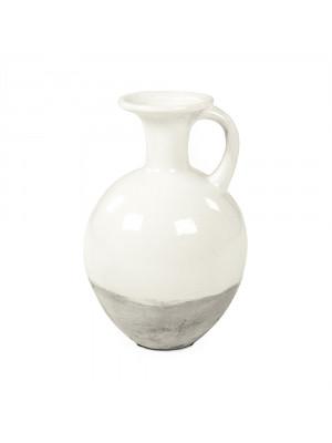 Distressed White Jar (8496L A25A)