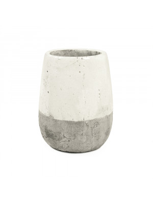 Distressed White Vase (9344S A25A)