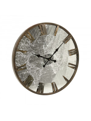 Mirrored Iron Clock w/ LED Light