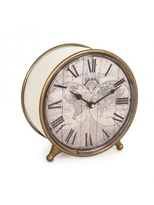 World Map Table Clock