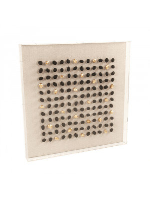 Gold/Black Stone Acrylic Framed Wall Art