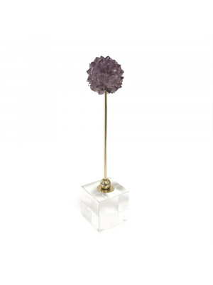 Purple Stone on Glass Stand