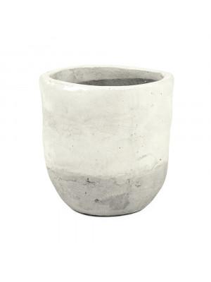 Distressed White Vase (7793L A25A)
