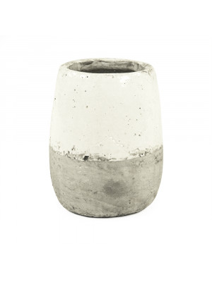 Distressed White Vase (9344L A25A)