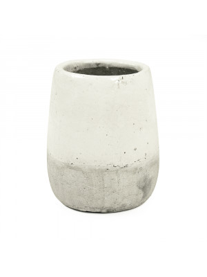 Distressed White Vase (9344M A25A)