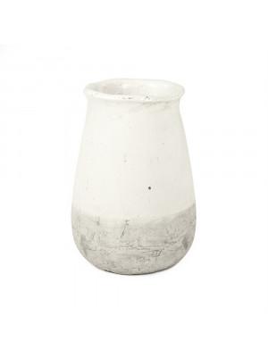 Distressed White Vase (9801L A25A)