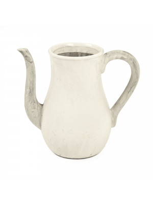 Distressed White Pitcher (9824S A25A)