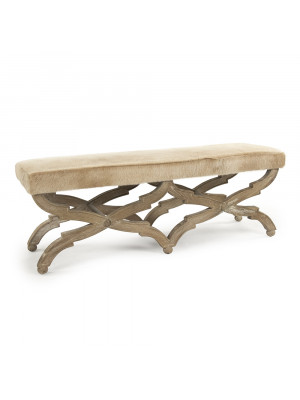 Crescenzo Cowhide Bench