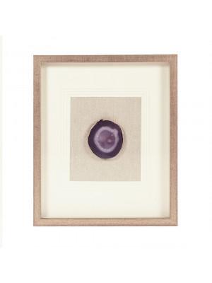 Purple Geode Shadowbox Wall Art