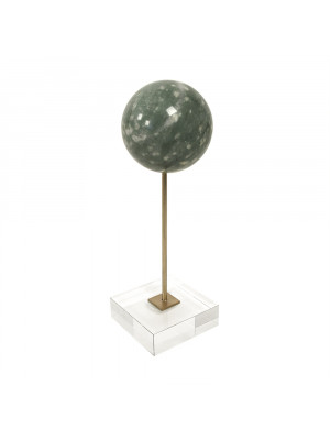 Marble Inspired Globe on Glass Stand